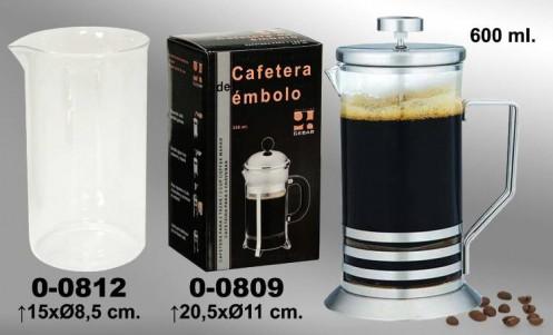 Cafetera embolo cristal