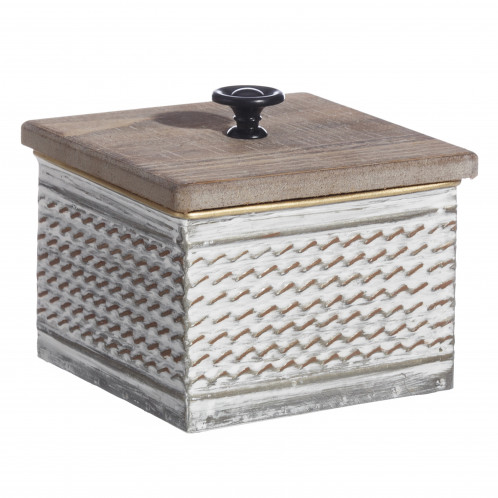 Caja decoración madera