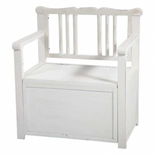 Mueble zapatero/banco madera blanco