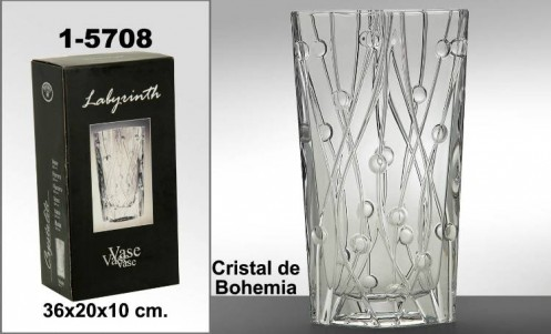 Jarrón cristal bohemia