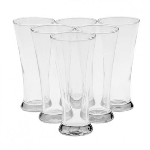 Set 6 vasos cristal cerveza