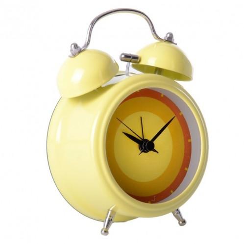 Reloj despertador amarillo
