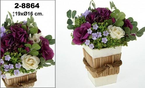 Centro flores artificial