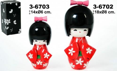 Muñeca madera Kokeshi