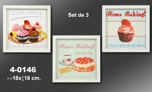 Set 3 cuadros cocina