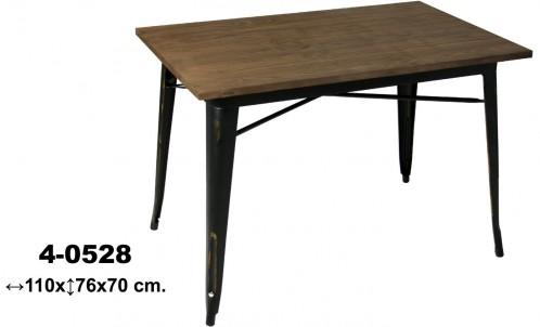 Mesa madera/metal retro