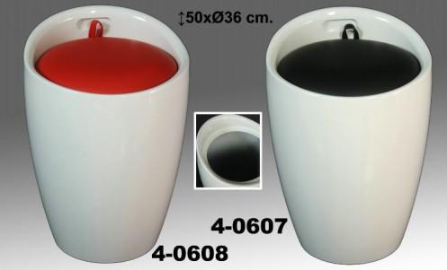 Taburete poliuretano blanco