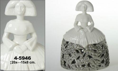 Menina ceramica blanca/plata