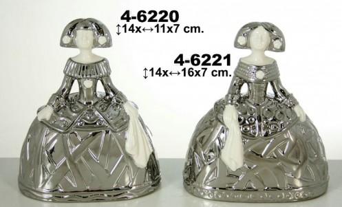 Menina ceramica plata/blanca