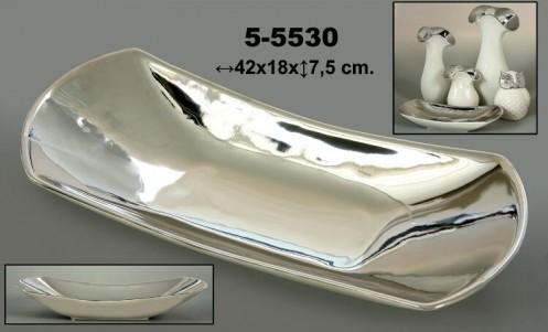 Centro decoracion ceramico-plata