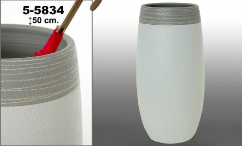 Paraguero ceramico blanco-gris