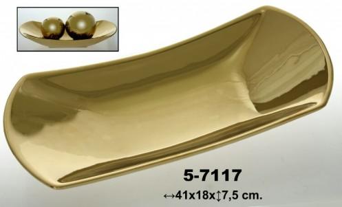 Centro decoracion ceramica oro