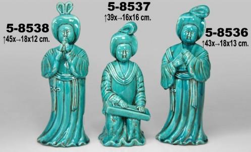 Figura decoracion gheisa sentada