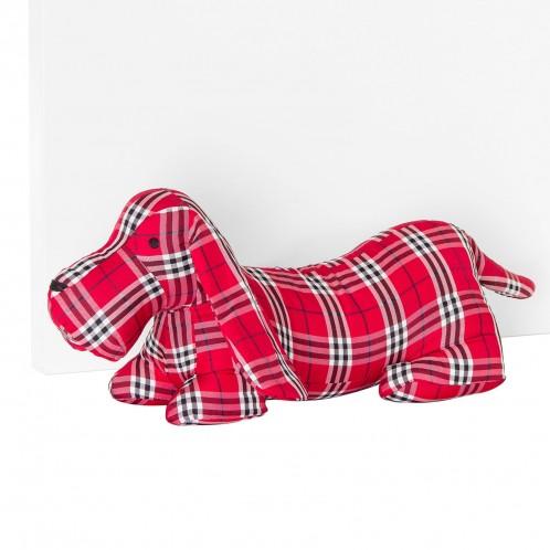 Sujetapuertas perro rojo