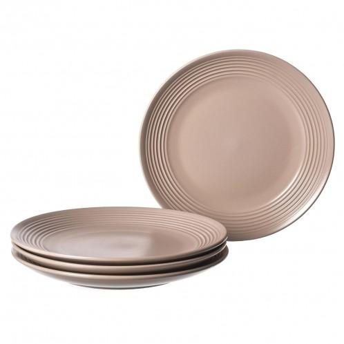 Plato porcelana llano beige