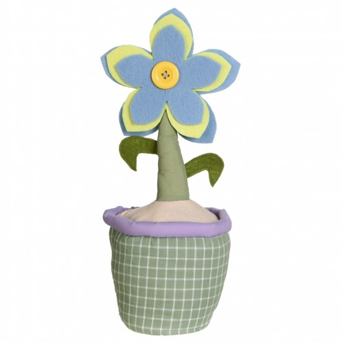 Sujetapuertas flor maceta  multicolor
