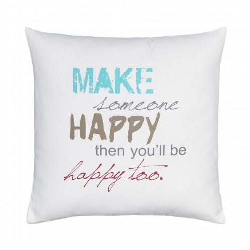 """Cojin decorado """"happy"""""""