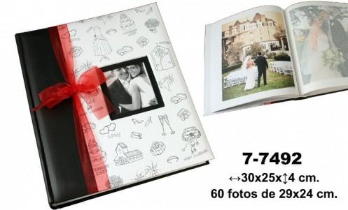 Álbum fotos blanco-negro