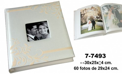 Álbum fotos blanco-beige