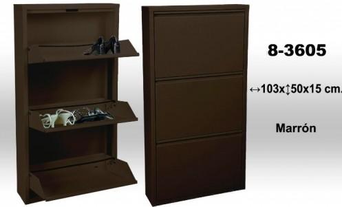 Mueble zapatero marrón metal