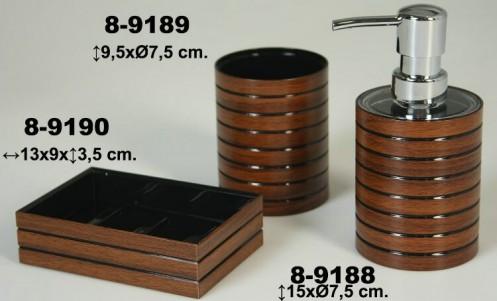 Dosificador baño marrón