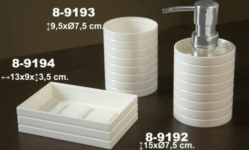 Dosificador baño blanco