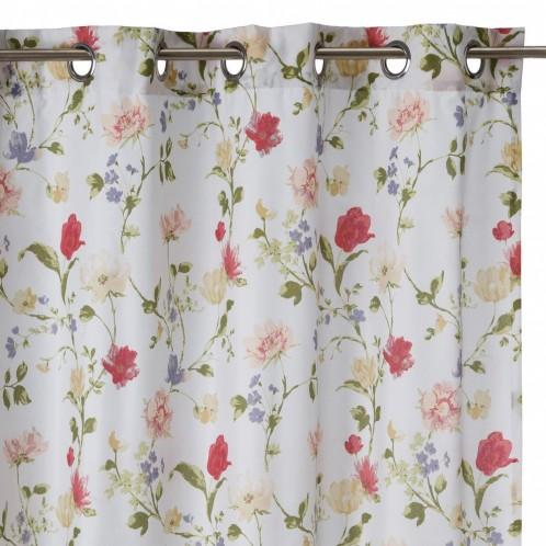Cortina rosas multicolor