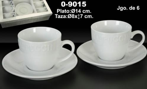 Taza 6 servicios café  blanco