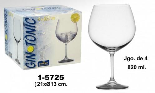 Set 4 copas cristal gintonic