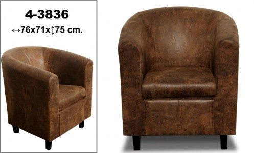 SILLON/BUTACA  POLIPIEL MARRON