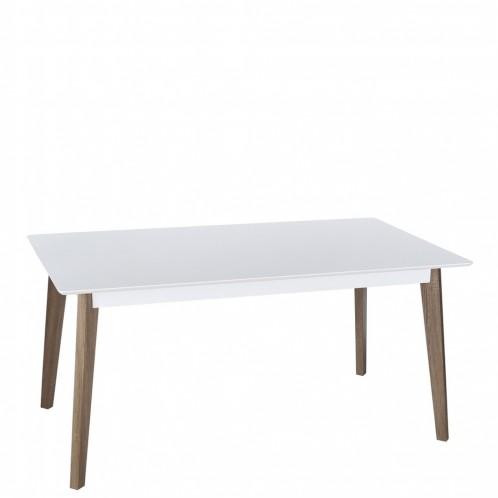 Mesa fija blanco-natural