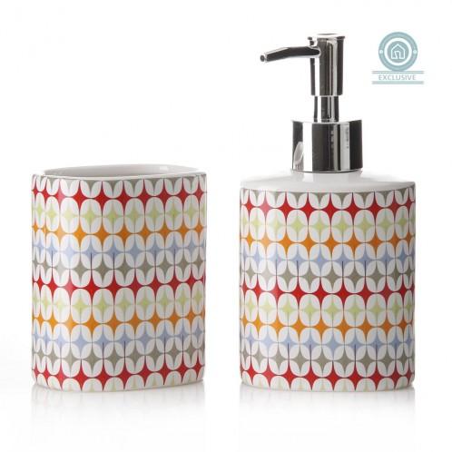 Set accesorios baño cerámica colores