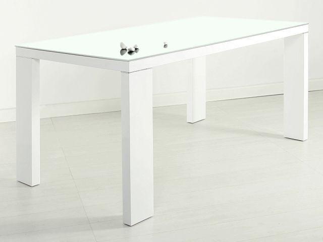 635e43d5ab9 Comprar online Mesa fija blanca-cristal