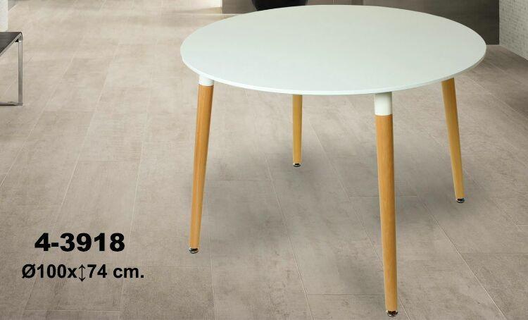 Comprar online mesa redonda blanca madera for Mesa redonda blanca