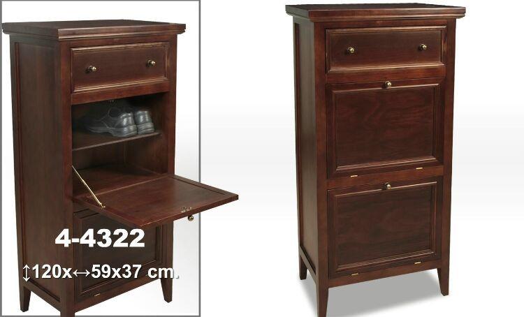 Comprar online mueble zapatero madera nogal for Mueble zapatero metalico
