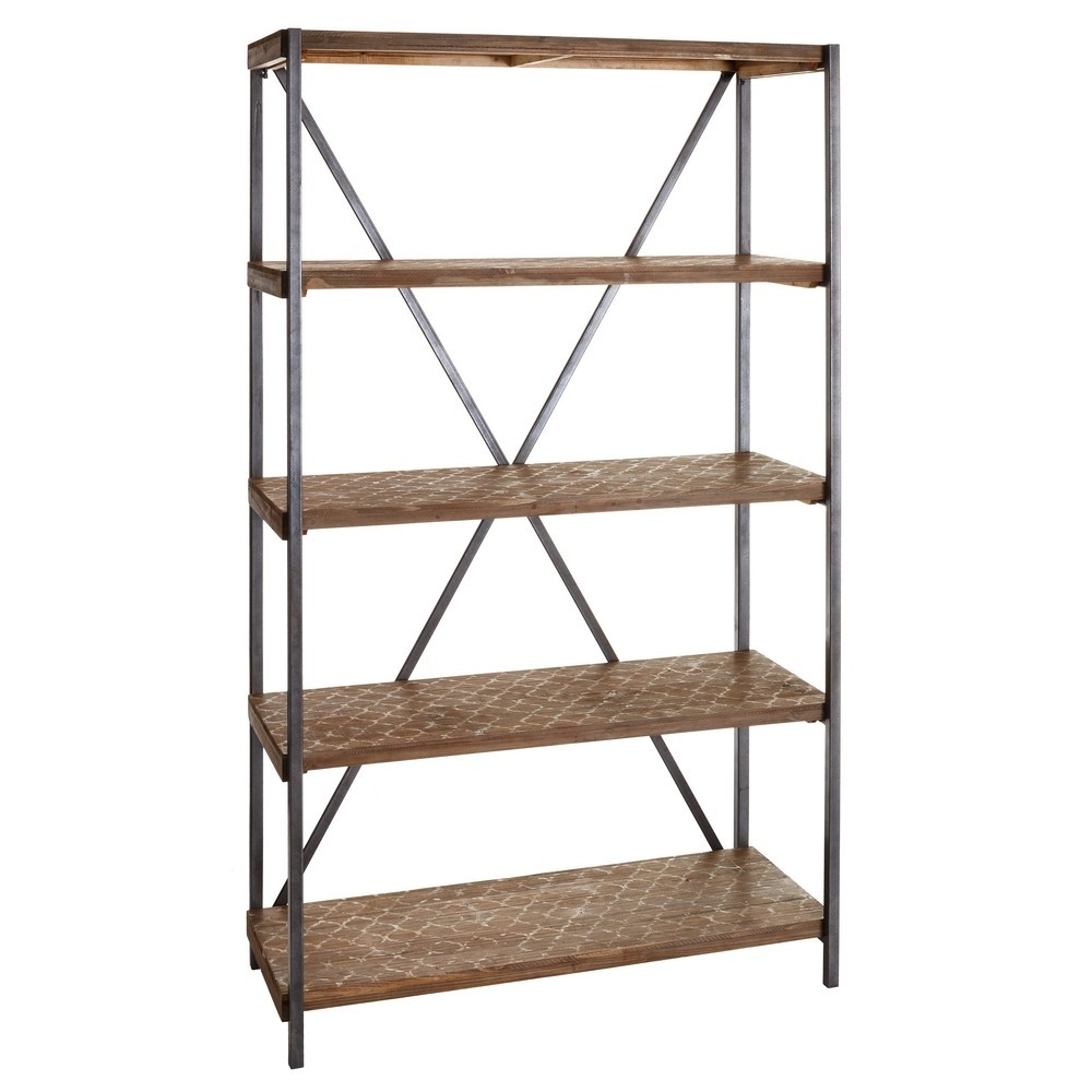 Comprar online estanteria 4 baldas madera natural - Baldas y estanterias ...