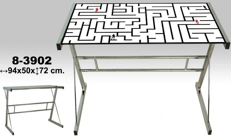 Mesas cristal ordenador mesa de ordenador leos superficie for Mesa ordenador conforama