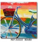 Cuadro lienzo bicicleta