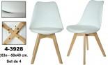 Silla blanca acrilica/madera