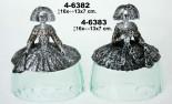 Menina resina base cristal