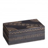 Caja madera negra