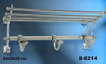 Percha-perchero colgador aluminio liso
