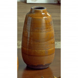 Jarrón cerámica mostaza