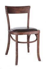 Silla madera olmo-asiento marrón