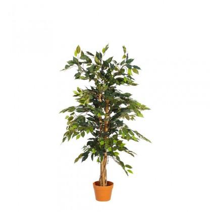 Planta artificial  ficus verde pvc