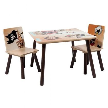 Set 1 mesa+2 sillas pirata