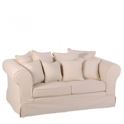 Sillón/sofa lona crema