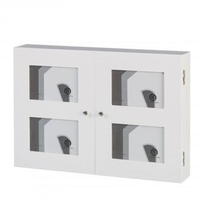 Cubrecontador-cuelga llaves   para 4 fotos blanco